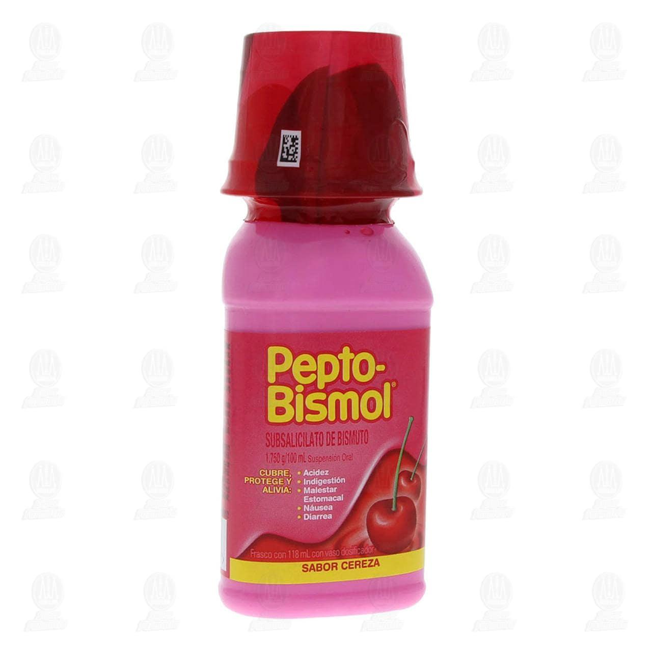 Comprar Suspensión Pepto Bismol Sabor Cereza 118ml en Farmacias Guadalajara