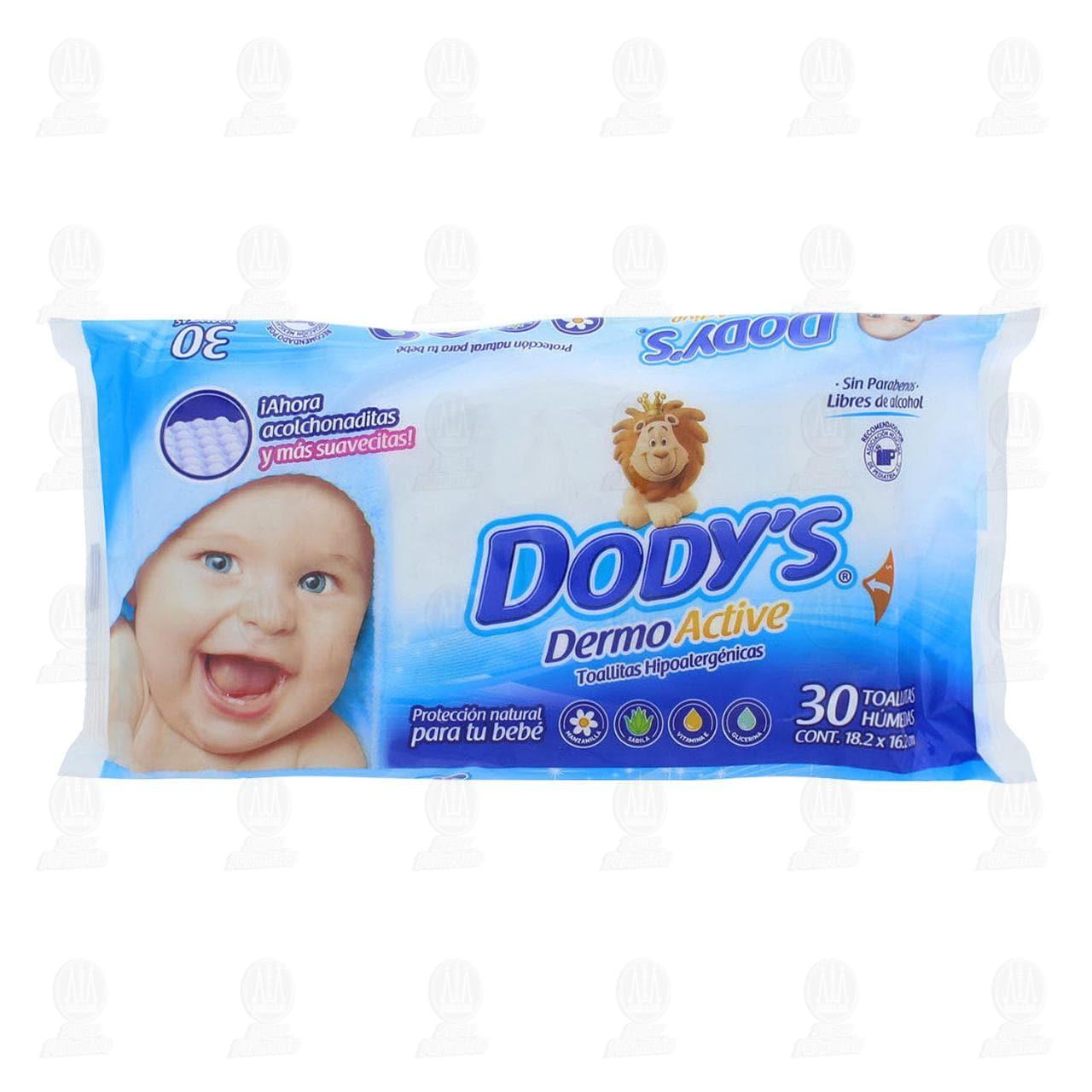 Comprar Toallitas para Bebé Dody's Dermo Active Hipoalergénicas, 30 pzas. en Farmacias Guadalajara