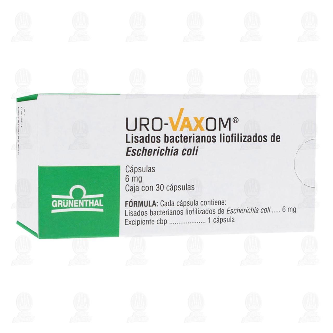 Comprar Uro-Vaxom 6mg 30 Cápsulas en Farmacias Guadalajara