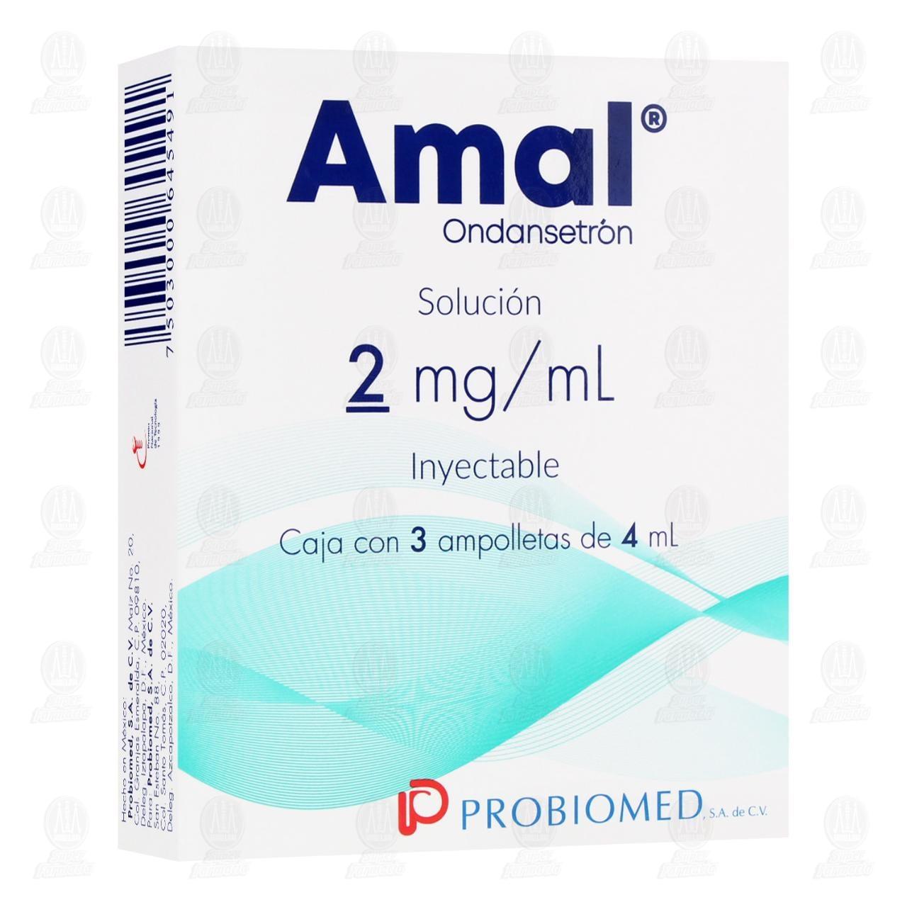 Comprar Amal 2mg/ml Solución Inyectable 3 Ampolletas 4ml en Farmacias Guadalajara