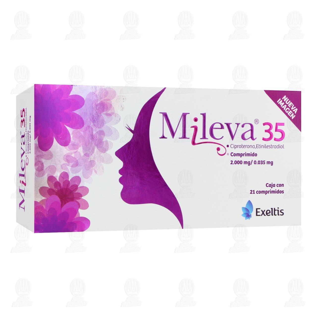 Comprar Mileva 35 2.0mg/0.035mg 21 Comprimidos en Farmacias Guadalajara
