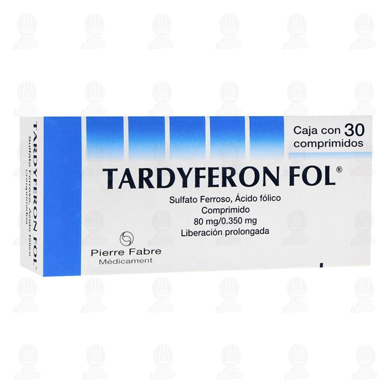 Comprar Tardyferon Fol 80mg/0.350mg 30 Comprimidos Liberación Prolongada en Farmacias Guadalajara