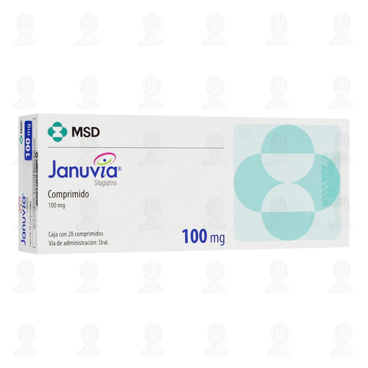 Comprar Januvia 100mg 28 Comprimidos en Farmacias Guadalajara