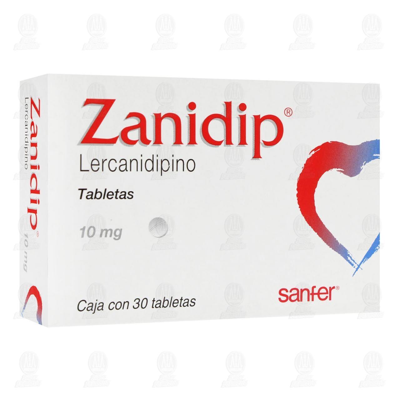 Comprar Zanidip 10mg 30 Tabletas en Farmacias Guadalajara