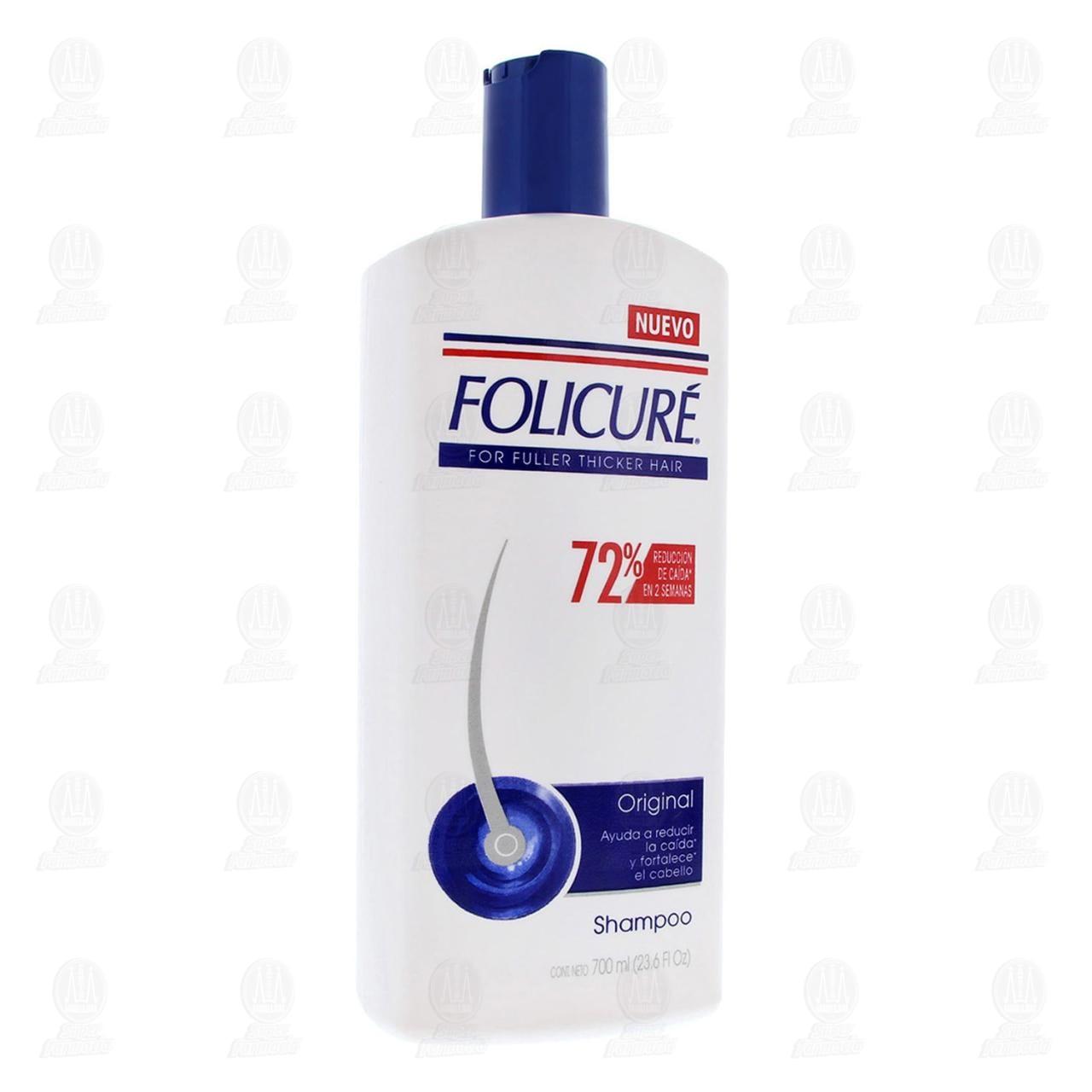 Comprar Shampoo Folicuré Original Reducción Caída, 700 ml. en Farmacias Guadalajara