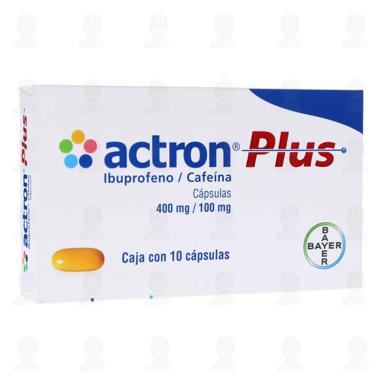 Comprar Actron Plus 400mg/100mg 10 Cápsulas en Farmacias Guadalajara