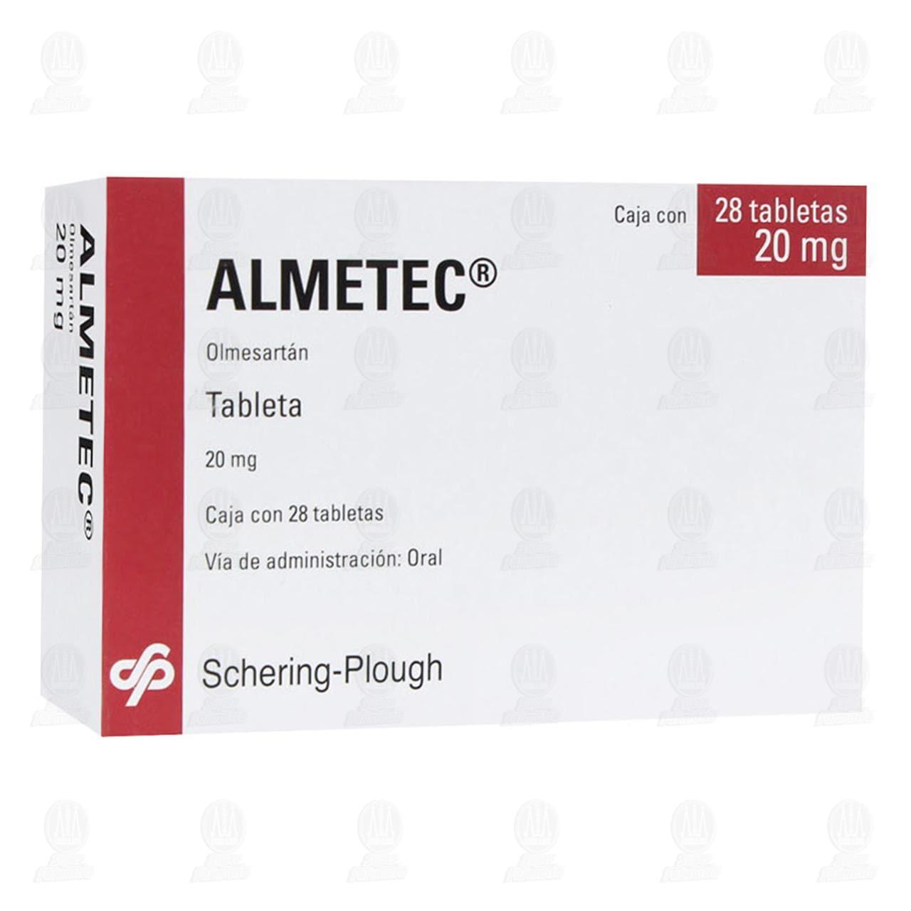 Comprar Almetec 20mg 28 Tabletas en Farmacias Guadalajara
