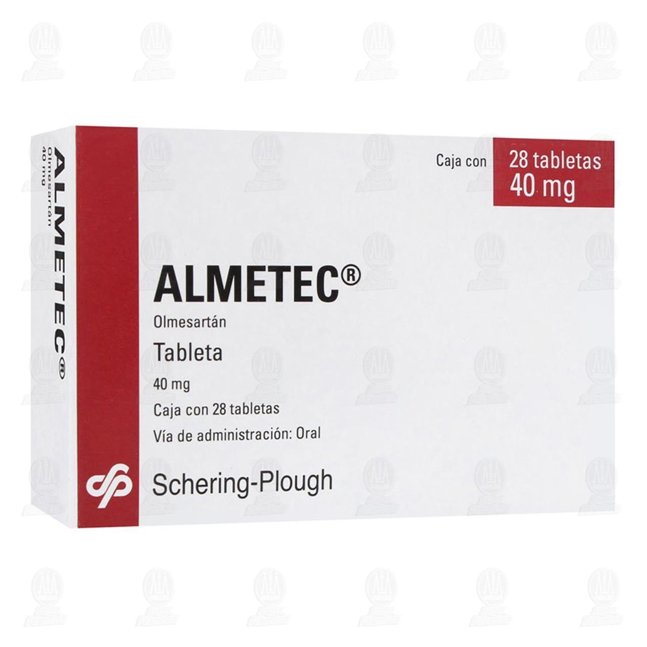 Comprar Almetec 40mg 28 Tabletas en Farmacias Guadalajara