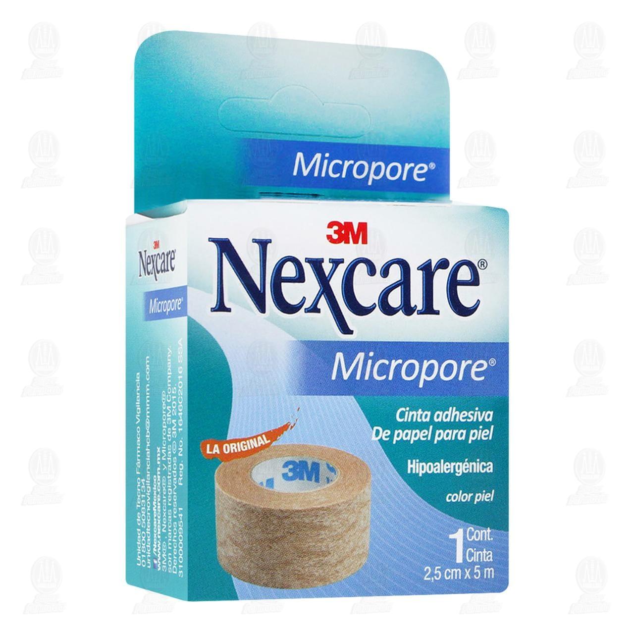 Comprar 3M Nexcare Micropore Cinta Adhesiva Color Piel 2.5cm x 5m 1pz en Farmacias Guadalajara
