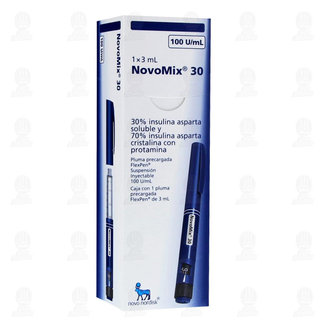 Comprar Novomix 30 Flexpen con 1 Pluma 100u/ml 3ml Solución en Farmacias Guadalajara