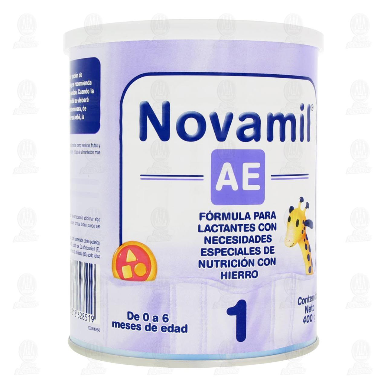 Comprar Fórmula Láctea Novamil AE 1 (Edad 0 a 6 Meses), 400 gr. en Farmacias Guadalajara