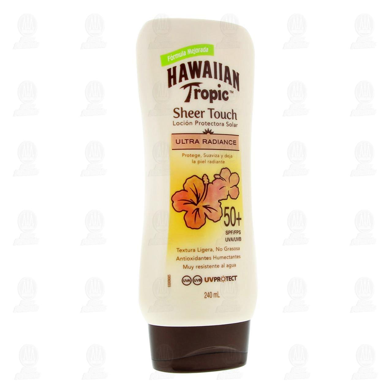 Comprar Protector Solar Hawaiian Tropic Ultra Radiance en Loción FPS 50, 240 ml. en Farmacias Guadalajara