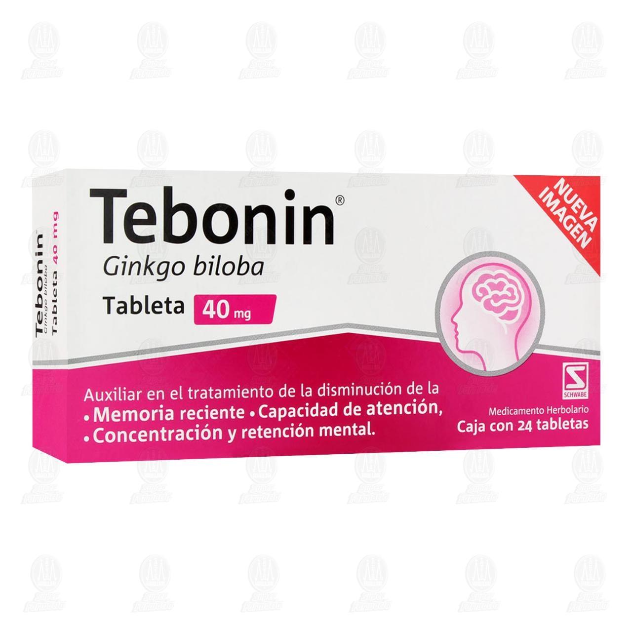 Comprar Tebonin 40mg 24 Tabletas en Farmacias Guadalajara
