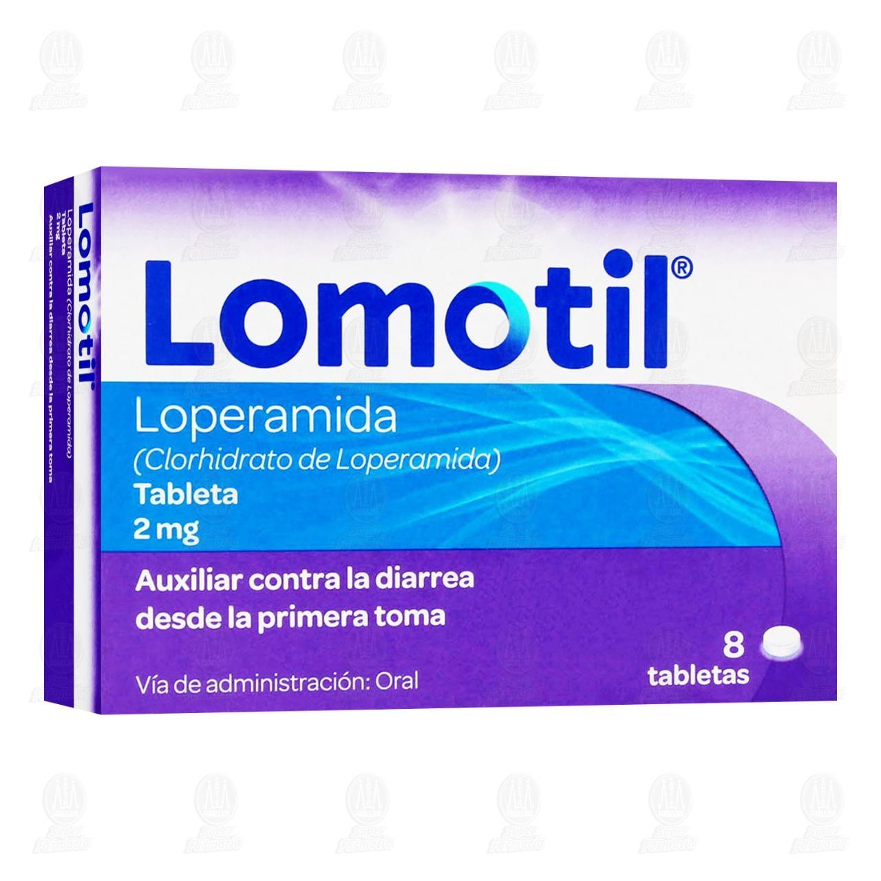 Comprar Lomotil 2mg con 8 Tabletas en Farmacias Guadalajara