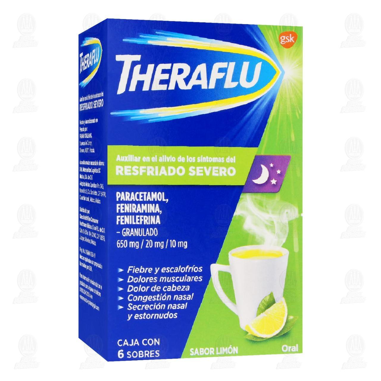 Theraflu Exthegran TD Resfriado Severo Sabor Limón 6 Sobres