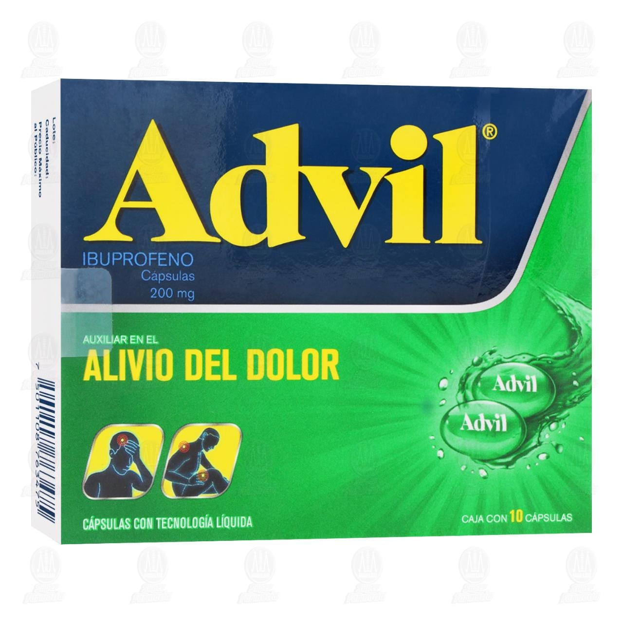 Comprar Advil 200mg 10 Cápsulas en Farmacias Guadalajara