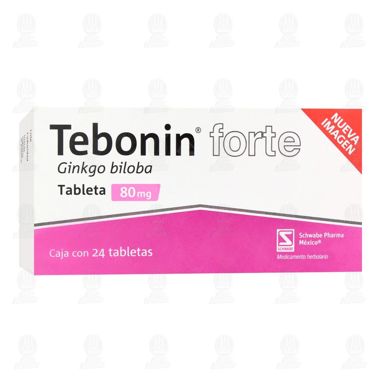 Comprar Tebonin Forte 80mg 24 Tabletas en Farmacias Guadalajara