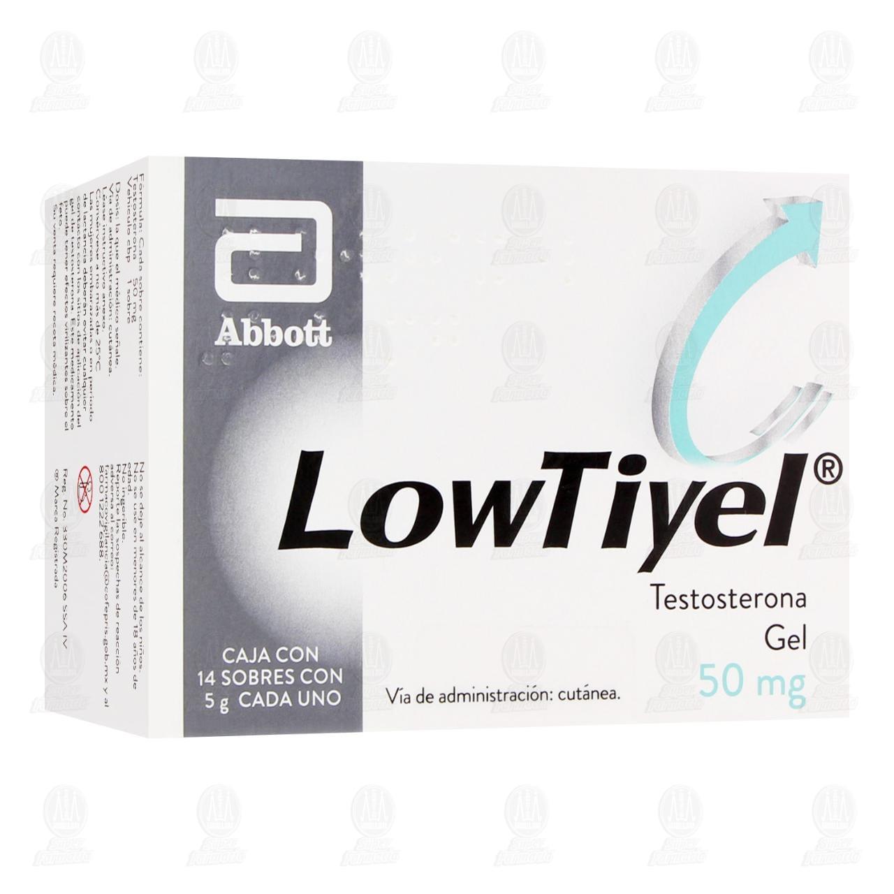 Comprar Lowtiyel 50mg 14 Sobres Gel en Farmacias Guadalajara