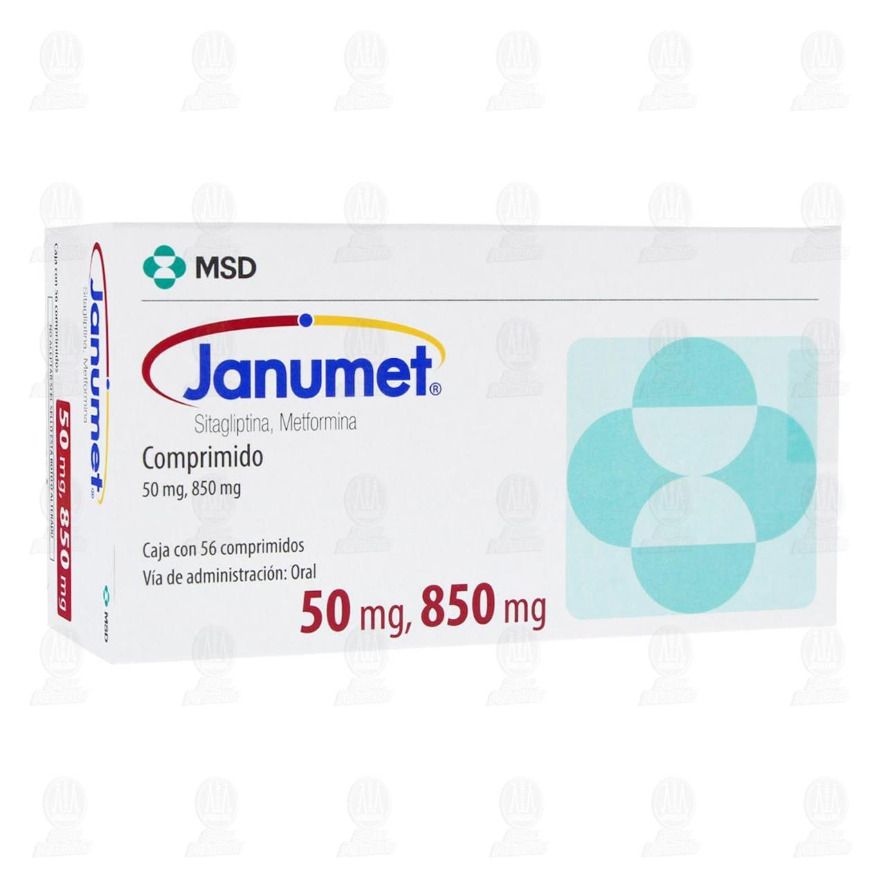 Comprar Janumet 50mg/850mg 56 Comprimidos en Farmacias Guadalajara
