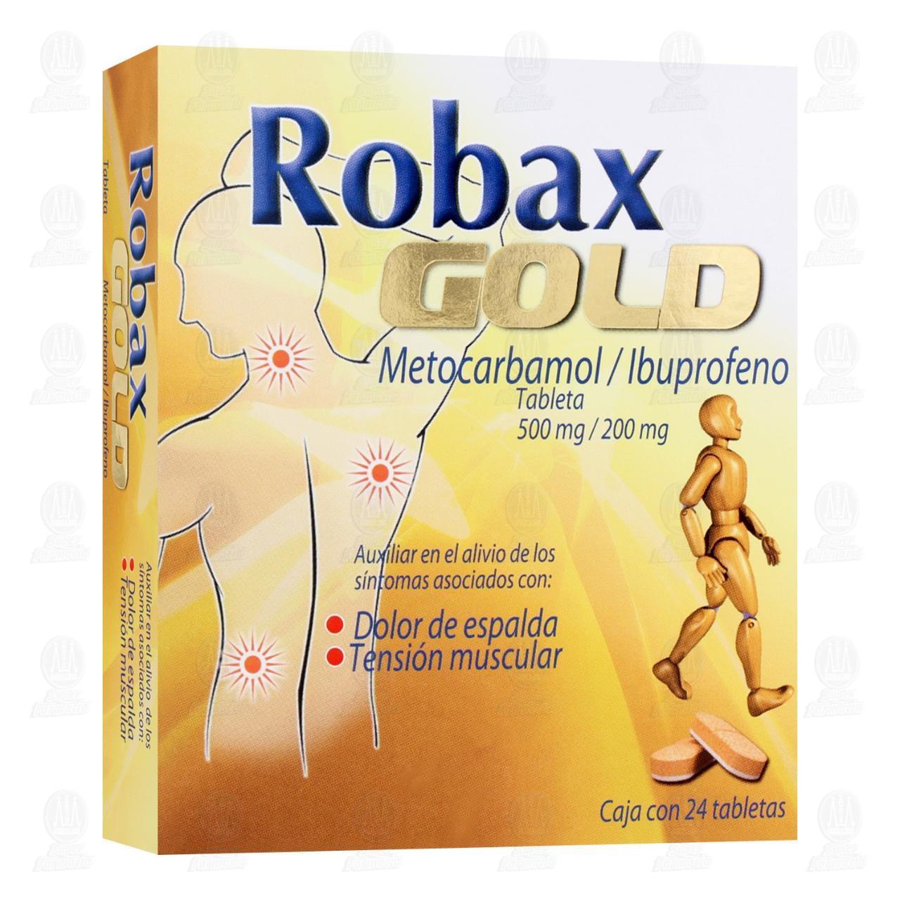 Comprar Robax Gold 500mg/200mg 24 Tabletas en Farmacias Guadalajara
