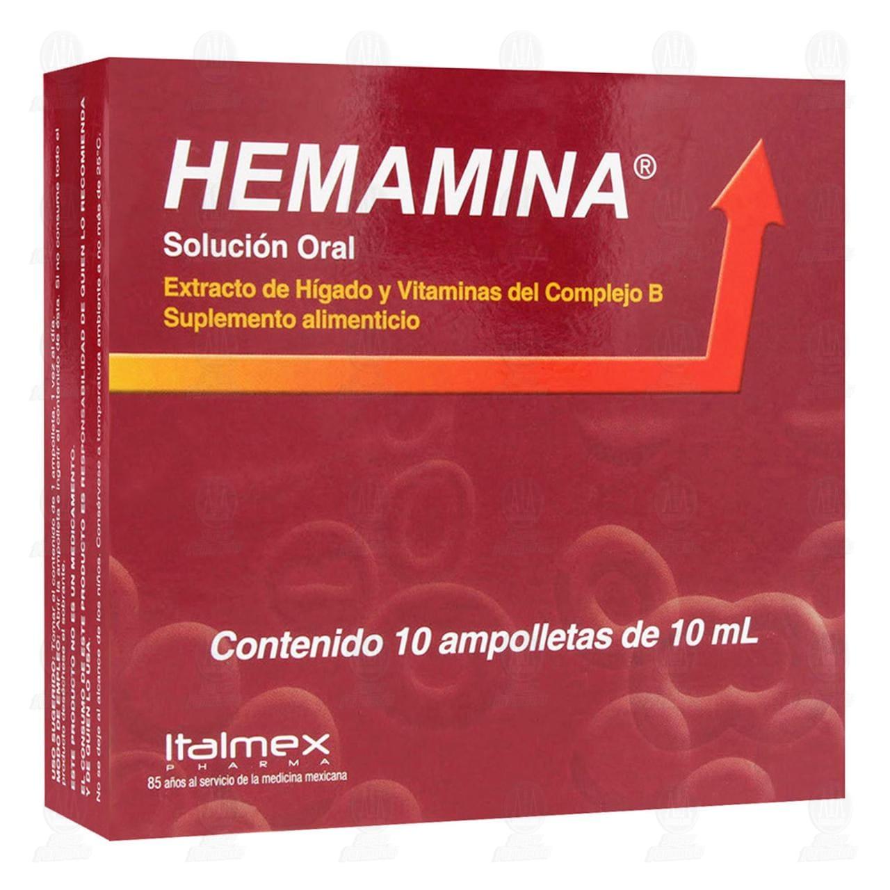 Comprar Hemamina 10ml 10 Ampolletas Solución Oral en Farmacias Guadalajara