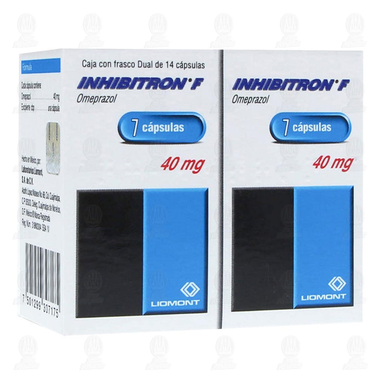 Comprar Inhibitron F 40mg Dual 7 Cápsulas C/U en Farmacias Guadalajara