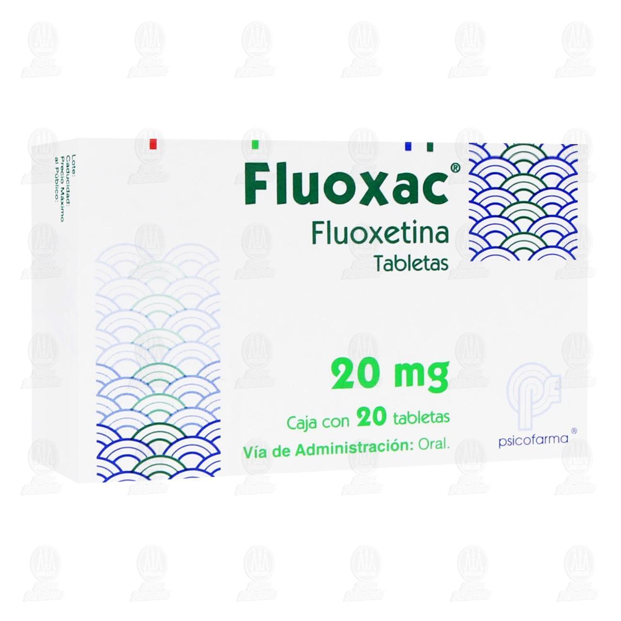 Fluoxac 20mg 20 Tabletas