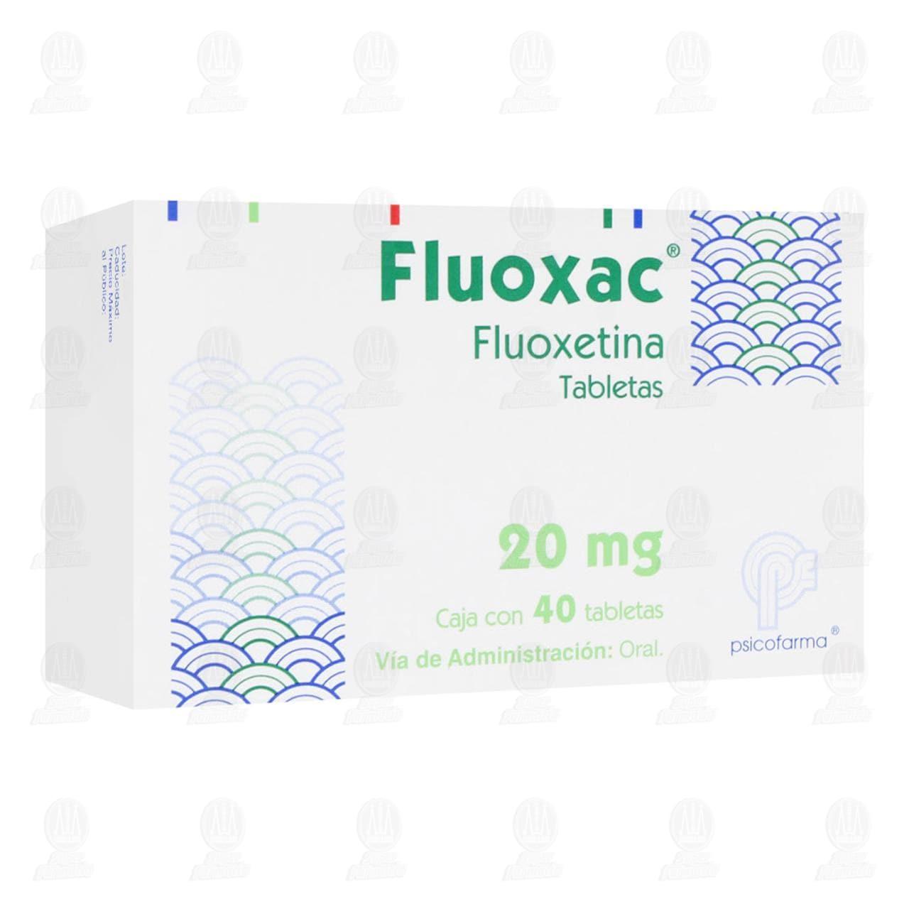 Fluoxac 20mg 40 Tabletas