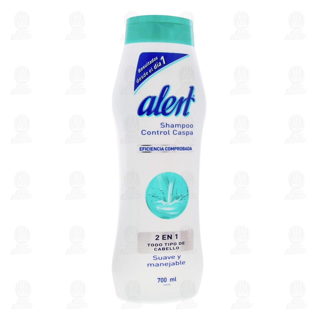 Comprar Shampoo Alert Control Caspa 2 en 1 para Todo Tipo de Cabello, 700 ml. en Farmacias Guadalajara