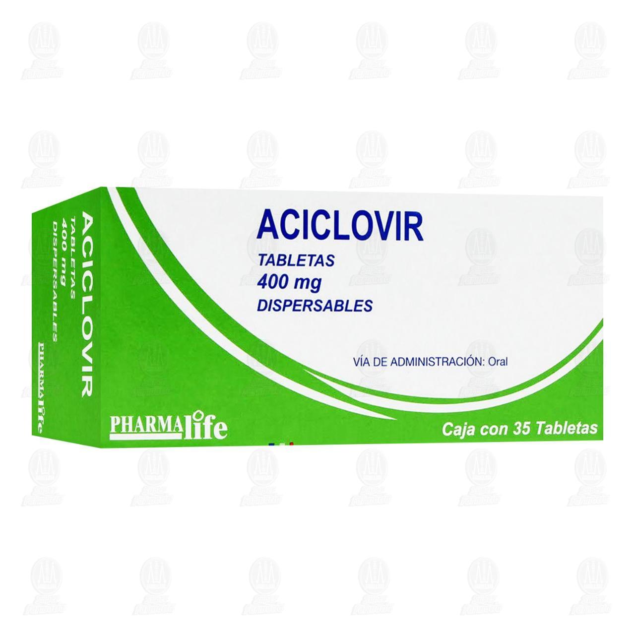 Aciclovir 400mg Tabletas Caja con 35