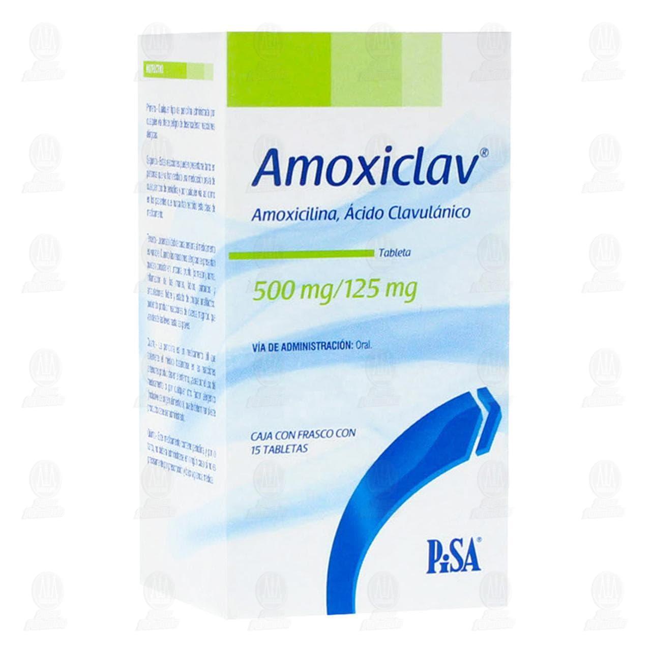 Comprar Amoxiclav 500mg/125mg 15 Tabletas en Farmacias Guadalajara