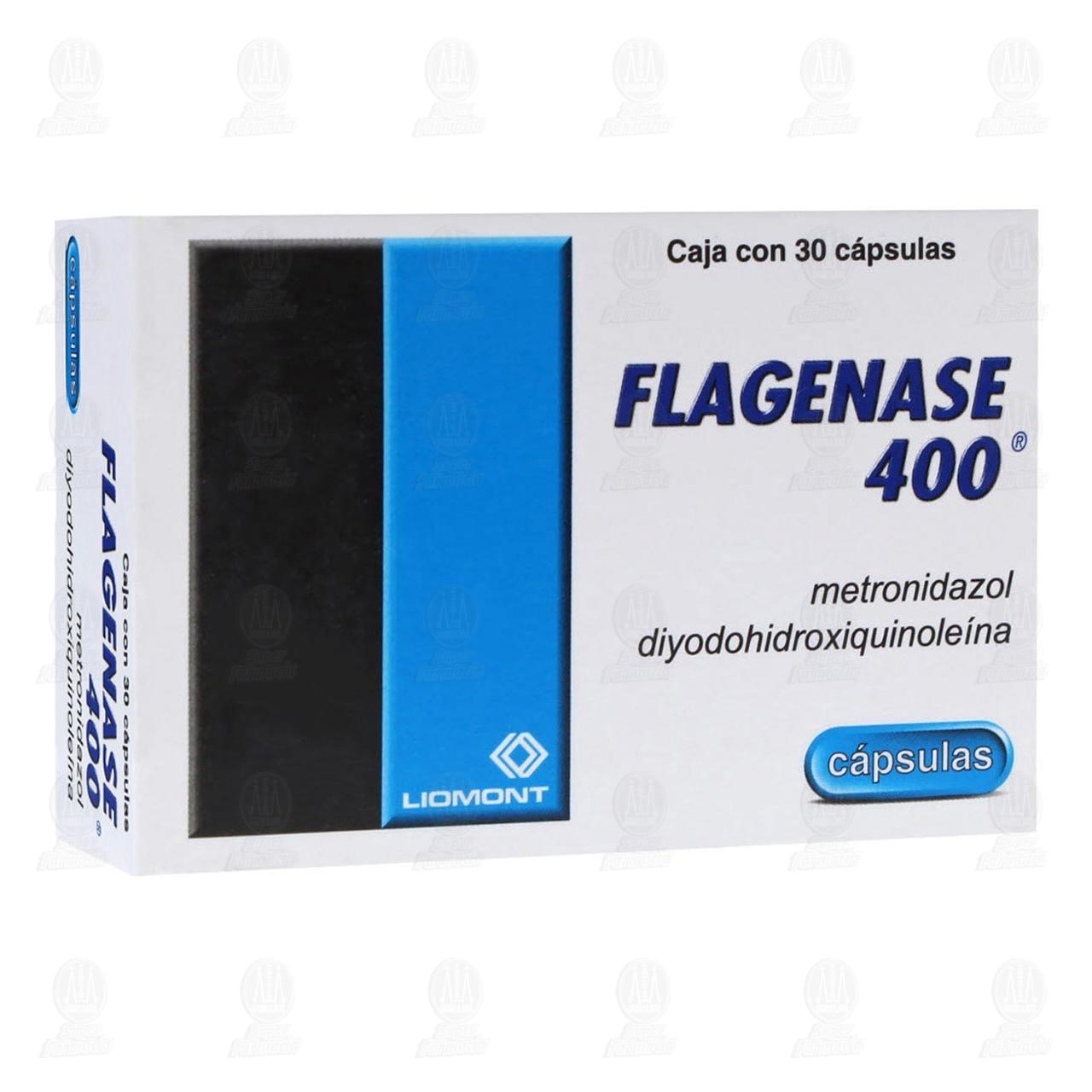 Comprar Flagenase 400mg 30 Cápsulas en Farmacias Guadalajara