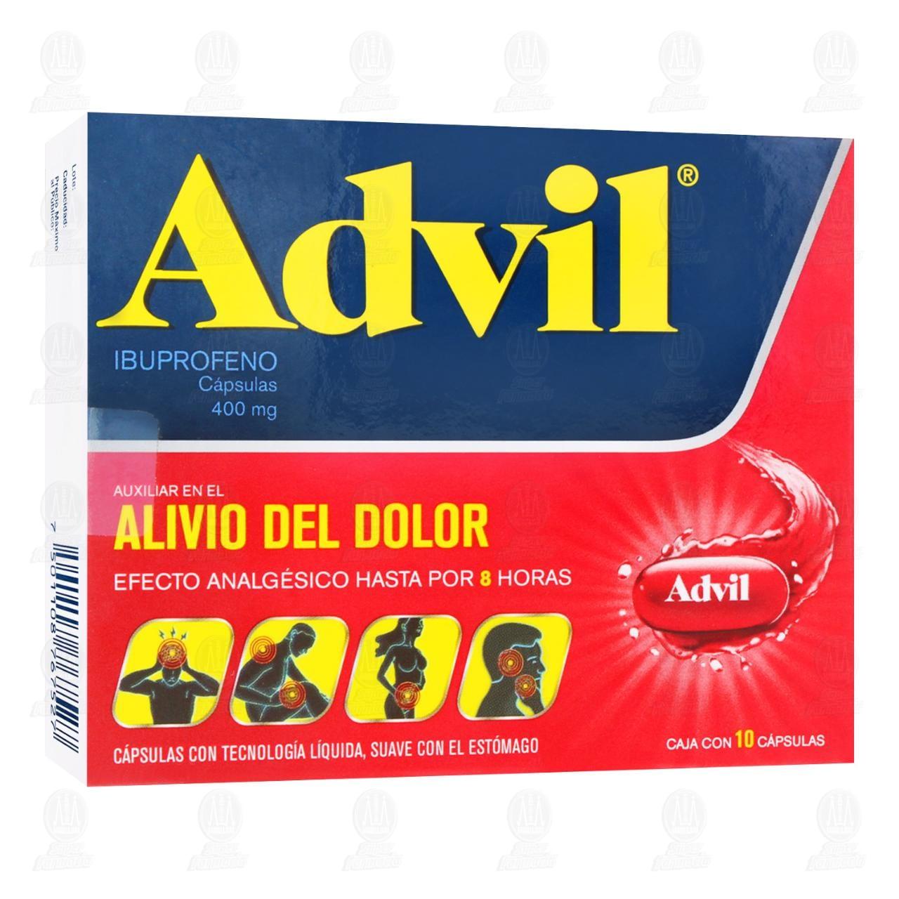 Comprar Advil 400mg 10 Cápsulas en Farmacias Guadalajara