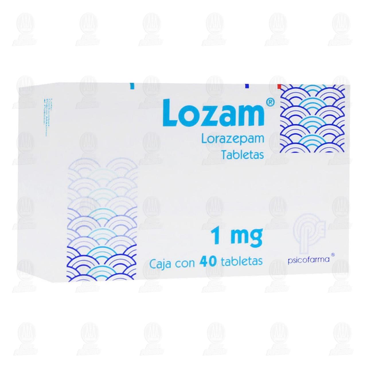 Comprar Lozam 1mg 40 Tabletas en Farmacias Guadalajara