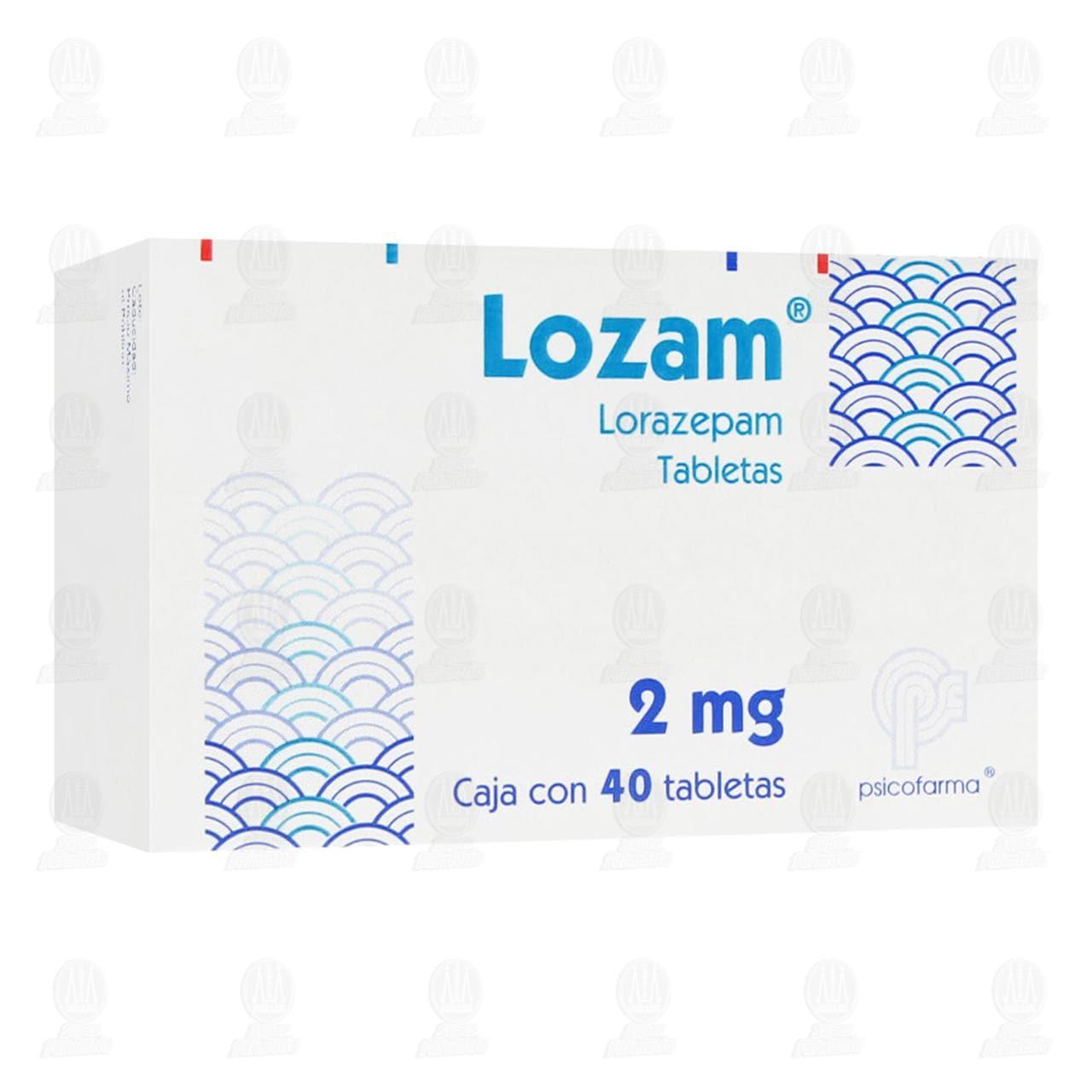 Comprar Lozam 2mg 40 Tabletas en Farmacias Guadalajara