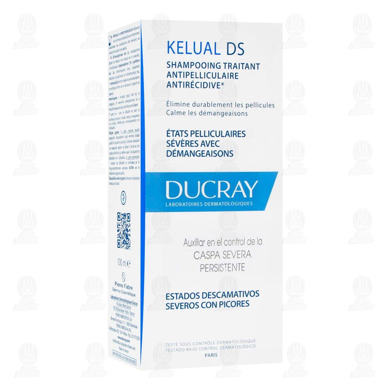 Comprar Ducray Kelual DS Shampoo Auxiliar en Control de Caspa, 100 ml. en Farmacias Guadalajara