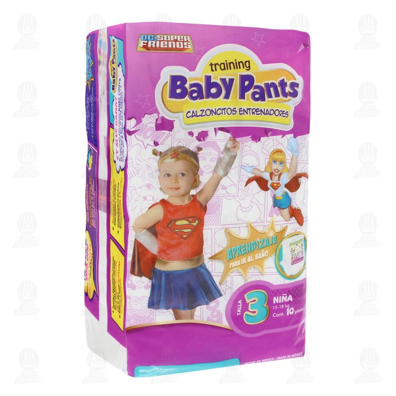 Calzones Desechables Baby Pants Niña Talla 3, 10 pzas.