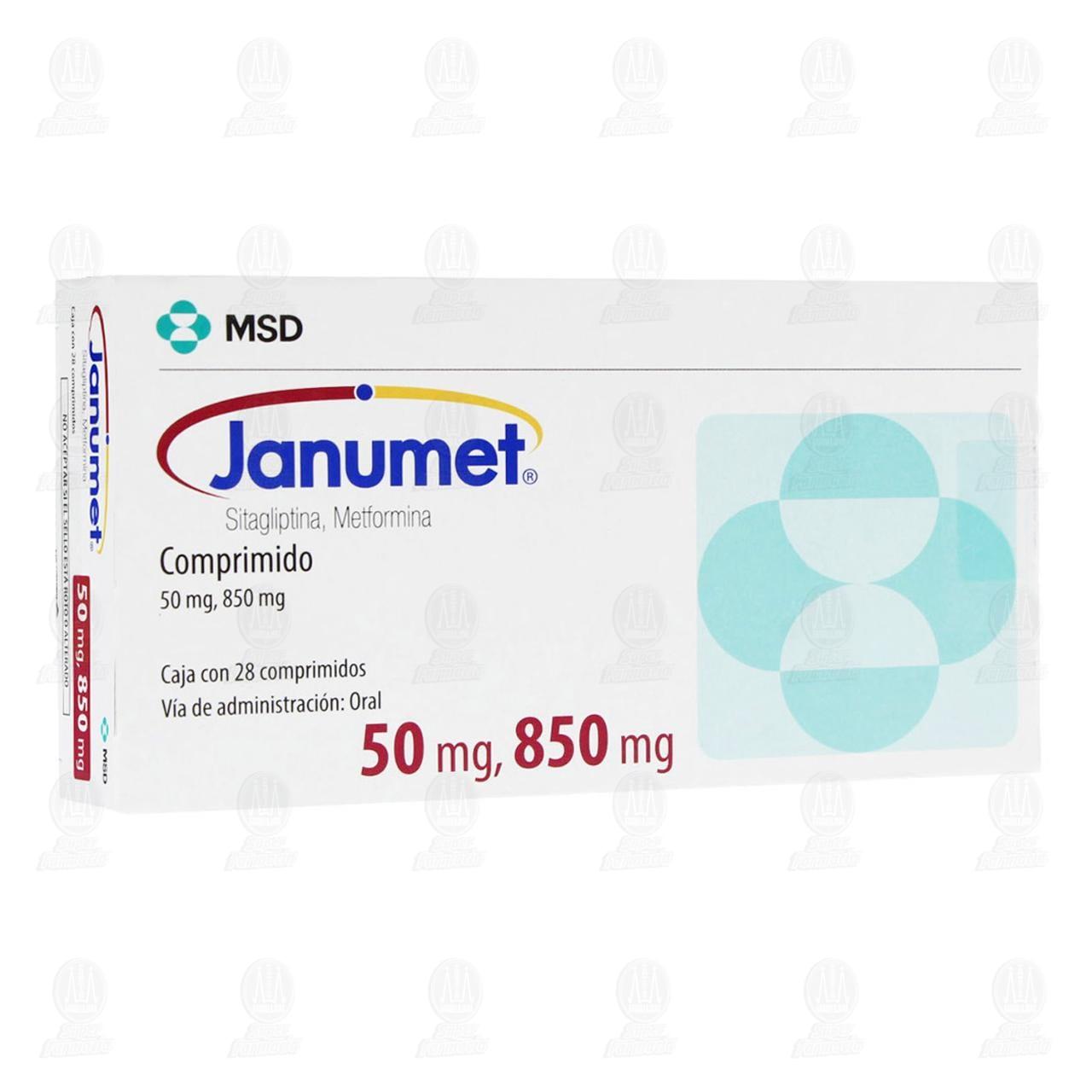 Comprar Janumet 50mg/850mg 28 Comprimidos en Farmacias Guadalajara