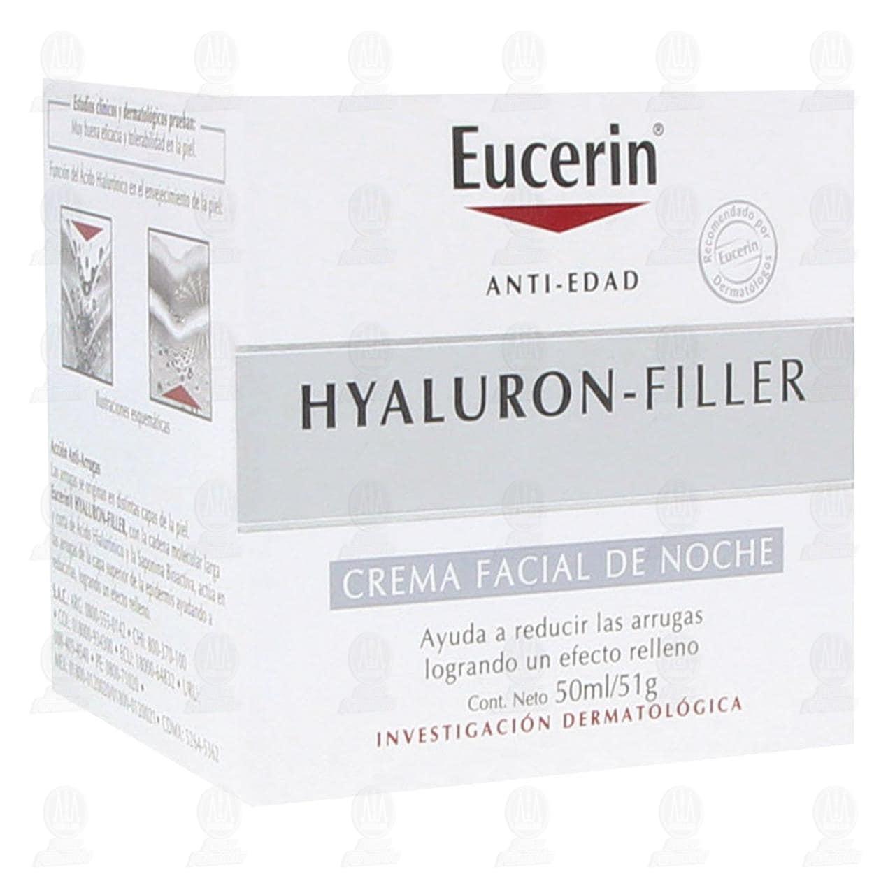 Comprar Eucerin Hyaluron Filler Crema Facial Antiarrugas Noche, 50ml. en Farmacias Guadalajara