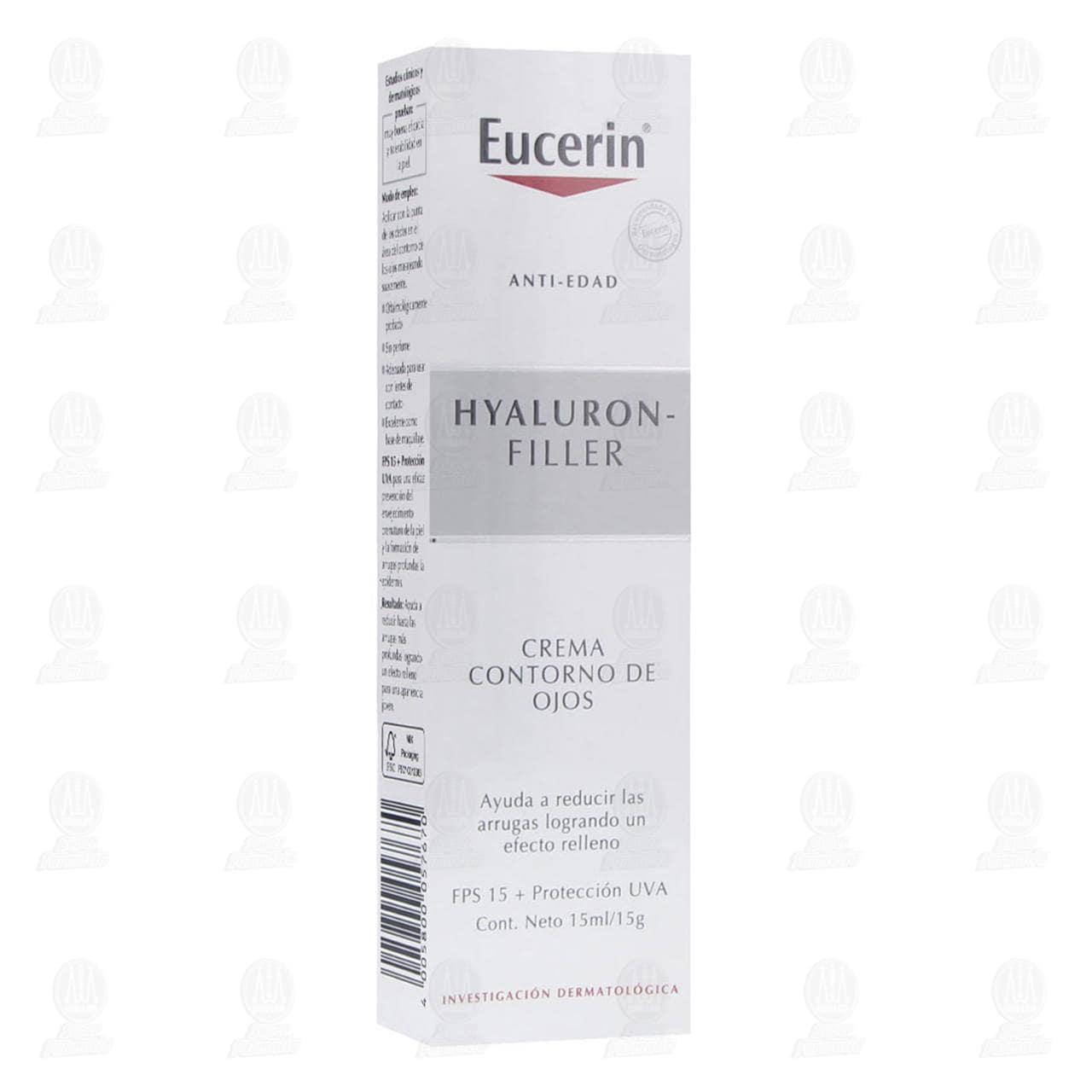 Comprar Eucerin Hyaluron Filler Crema Facial Antiarrugas Ojos, 15ml. en Farmacias Guadalajara