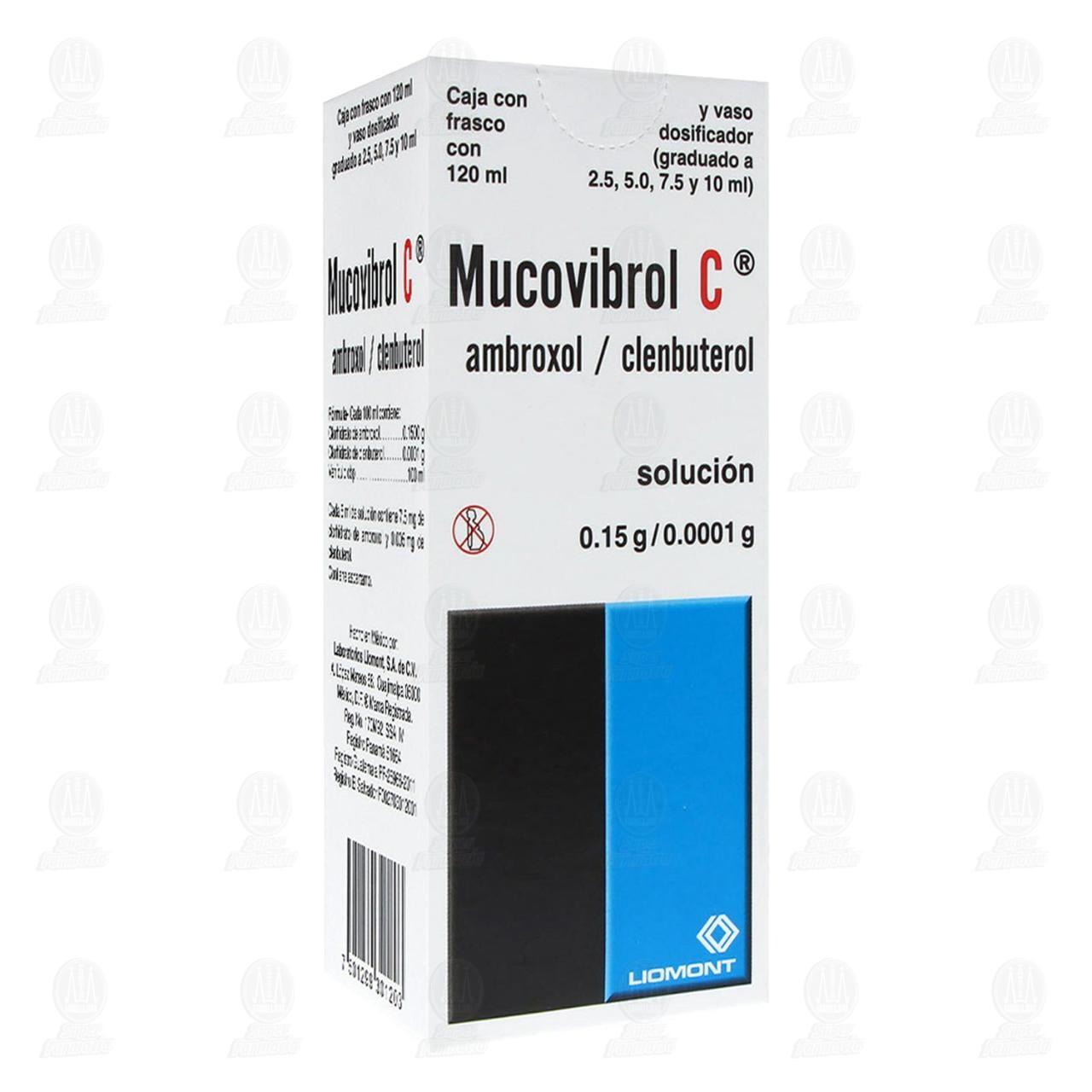 Comprar Mucovibrol C Solución 0.15gr/0.0001gr 120ml en Farmacias Guadalajara