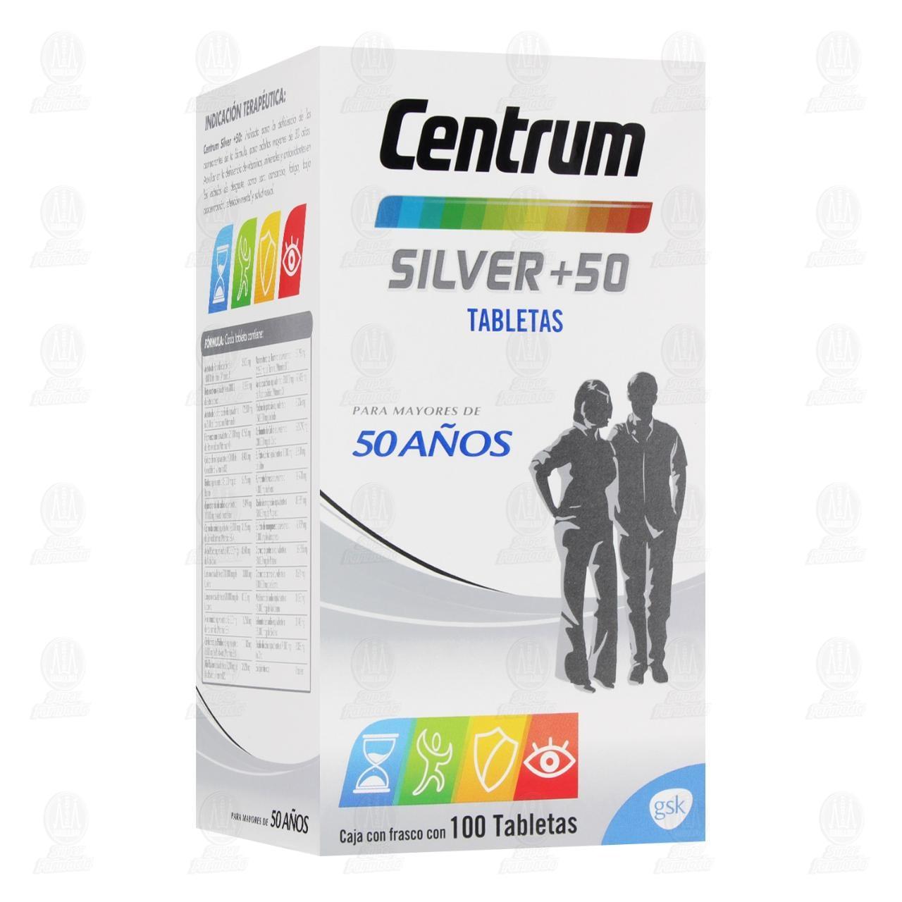 Comprar Centrum Silver+50 100 Tabletas en Farmacias Guadalajara