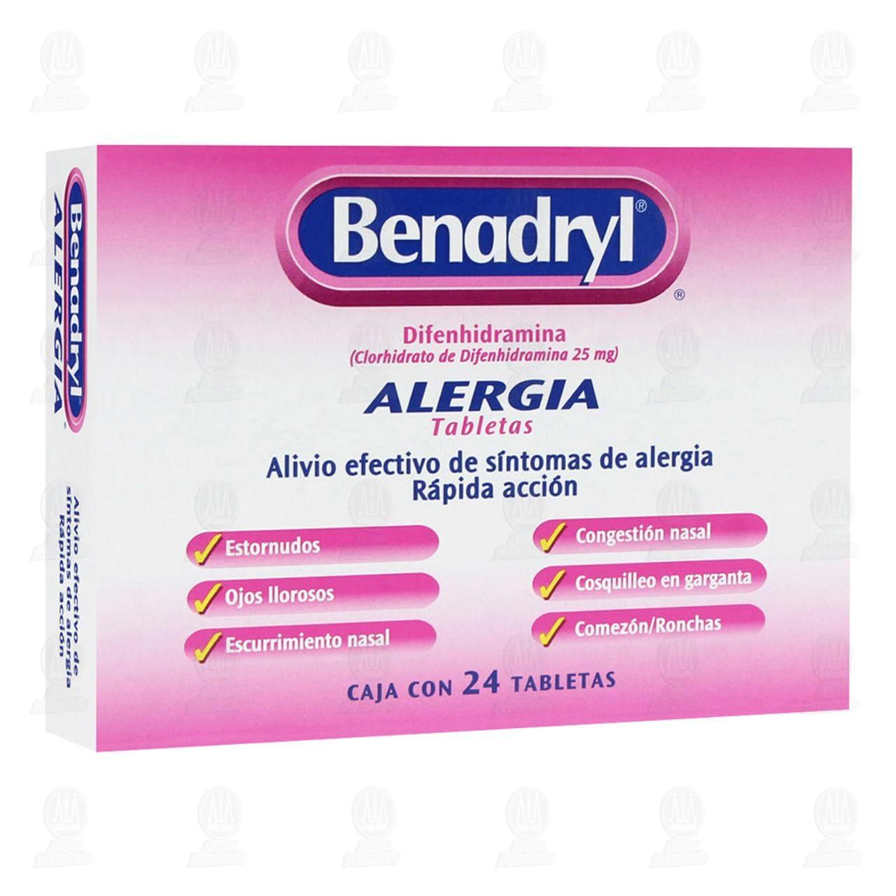 Comprar Benadryl 25mg 24 Tabletas en Farmacias Guadalajara