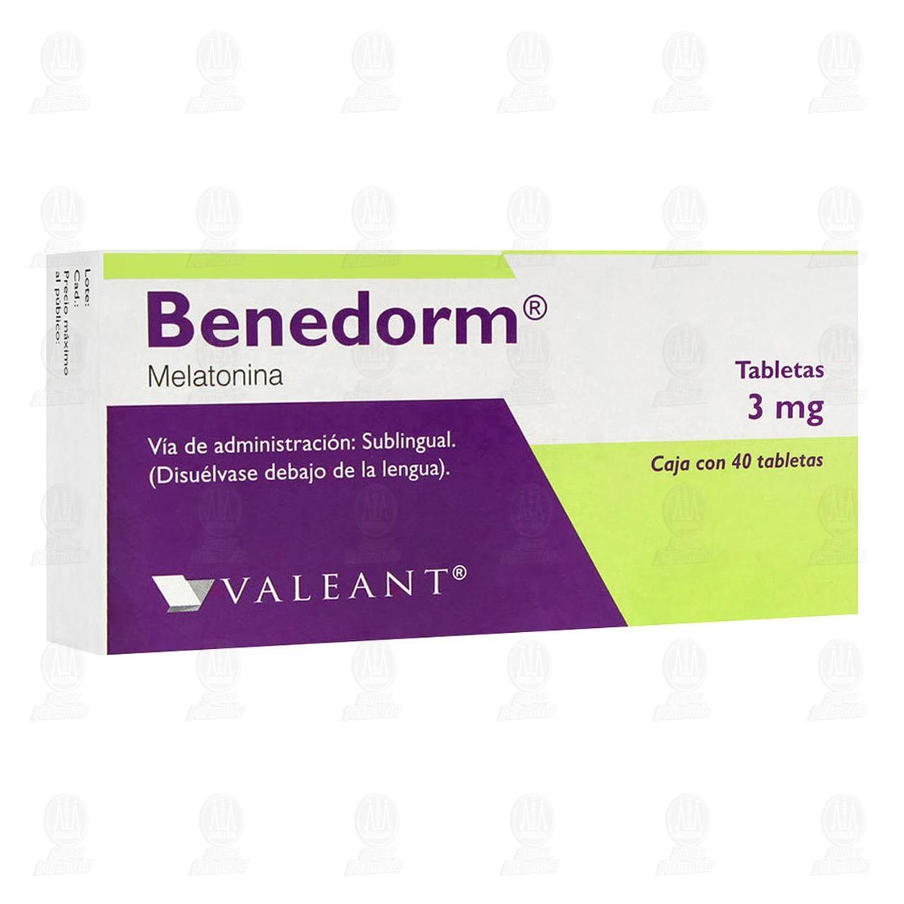 Comprar Benedorm 3mg 40 Tabletas Sublinguales en Farmacias Guadalajara