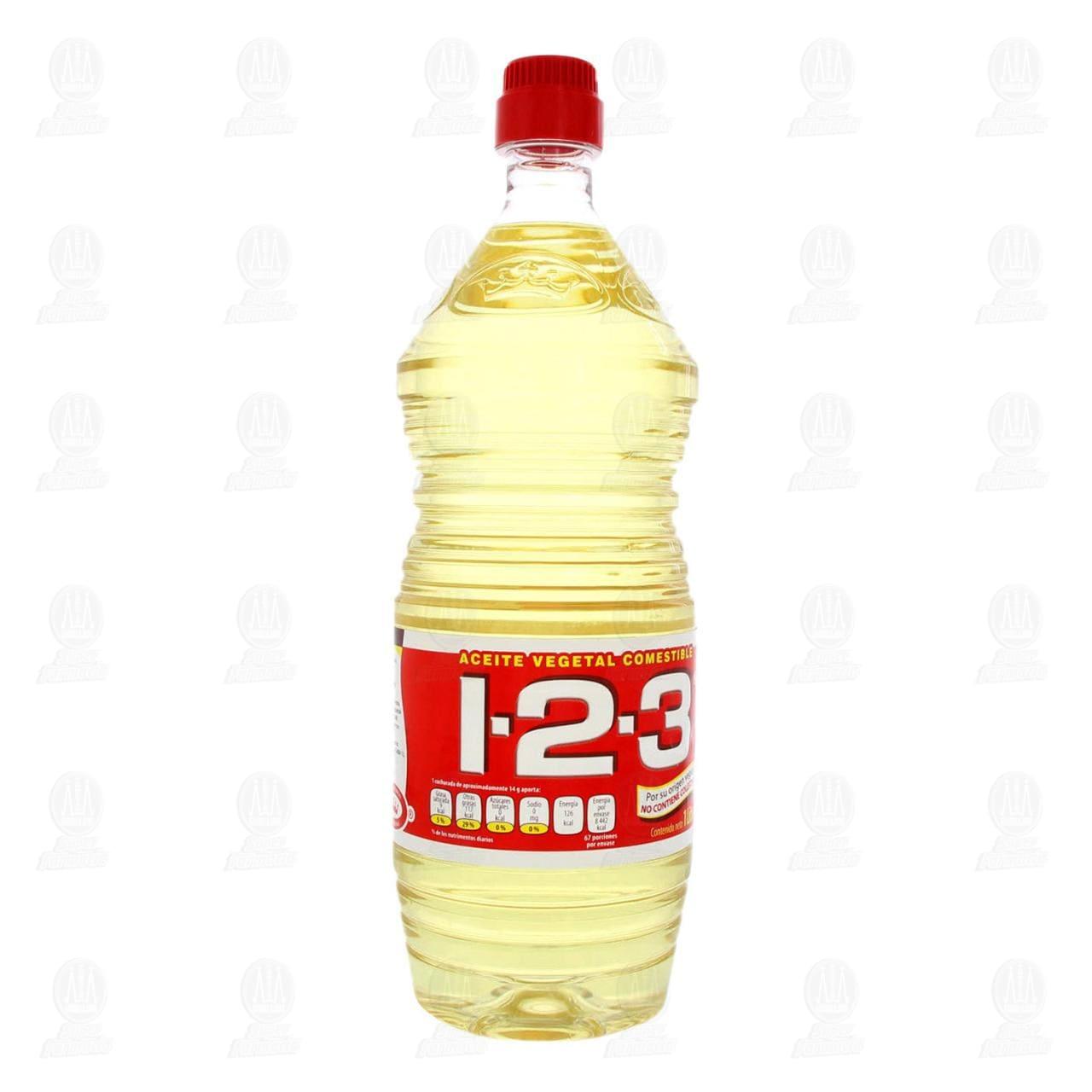 Aceite Comestible 1-2-3 de Origen Vegetal, 1 l.