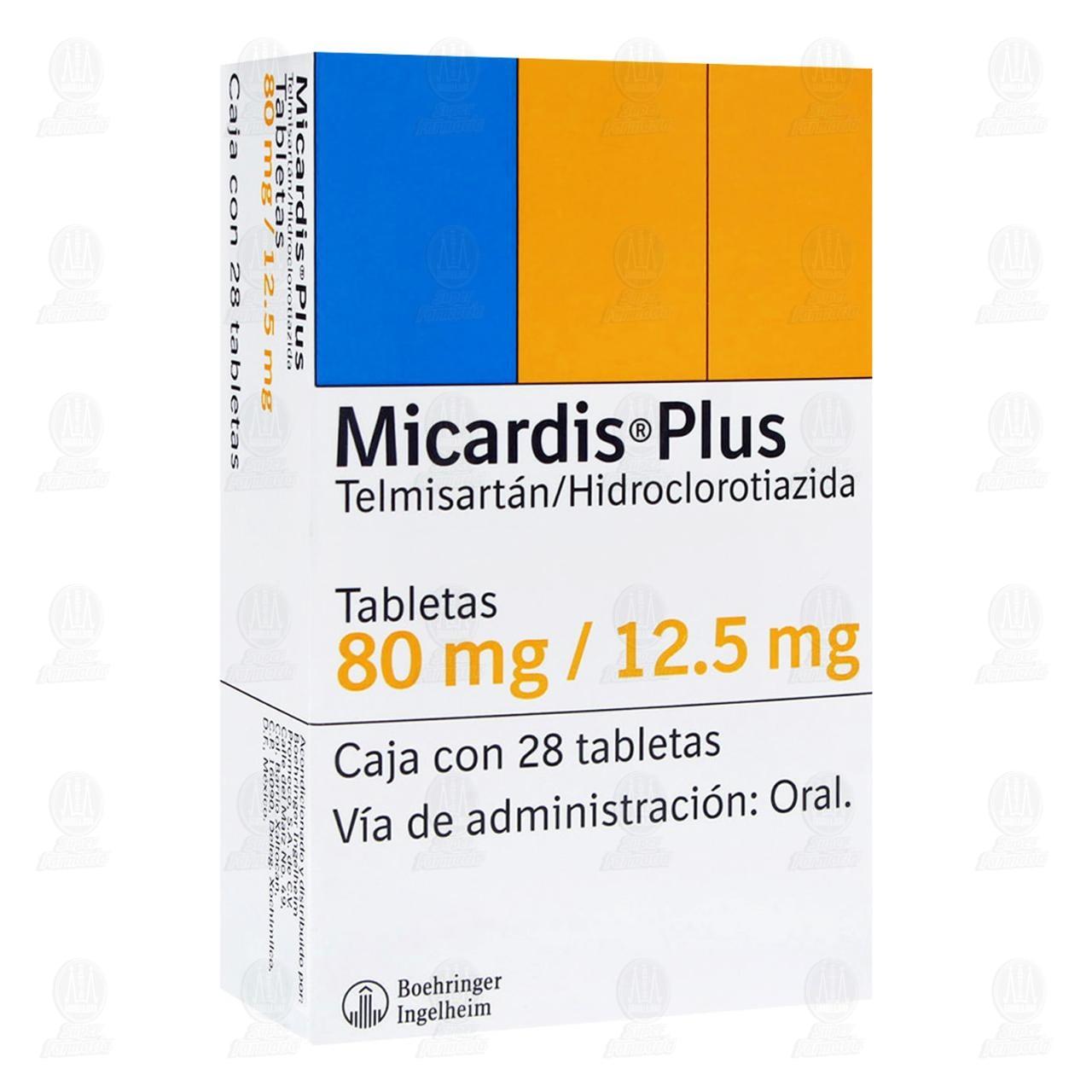 Micardis Plus 80mg/12.5mg 28 Tabletas