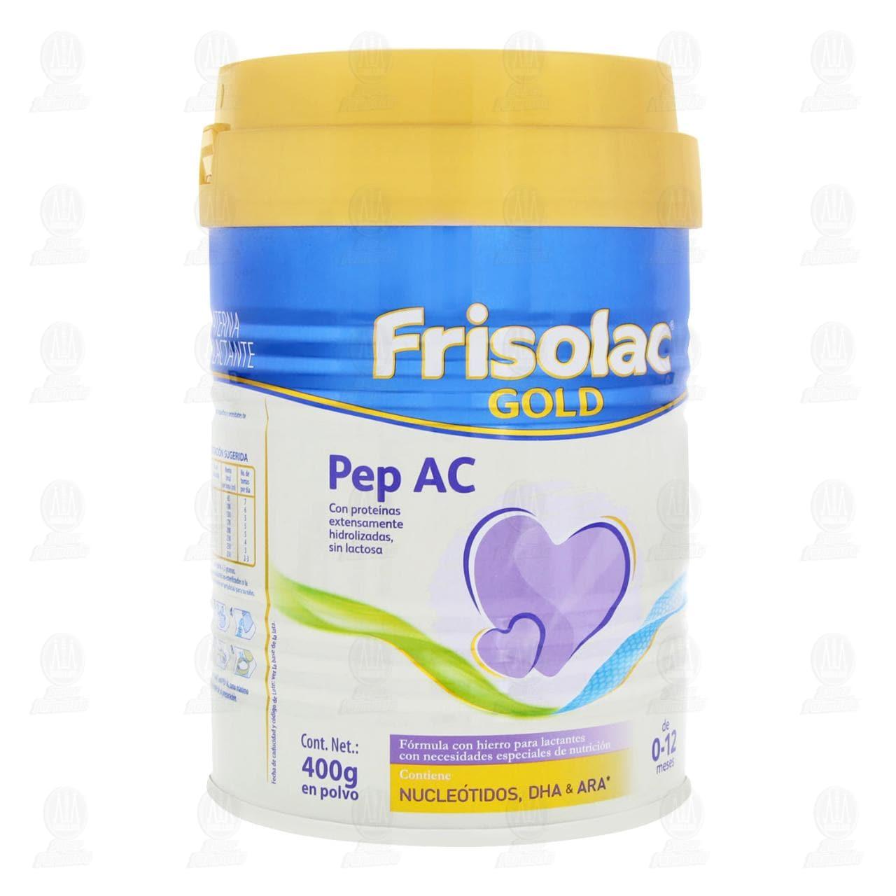 Comprar Fórmula Infantil Frisolac Gold Pep AC en Polvo (Edad 0-12 Meses), 400 gr. en Farmacias Guadalajara
