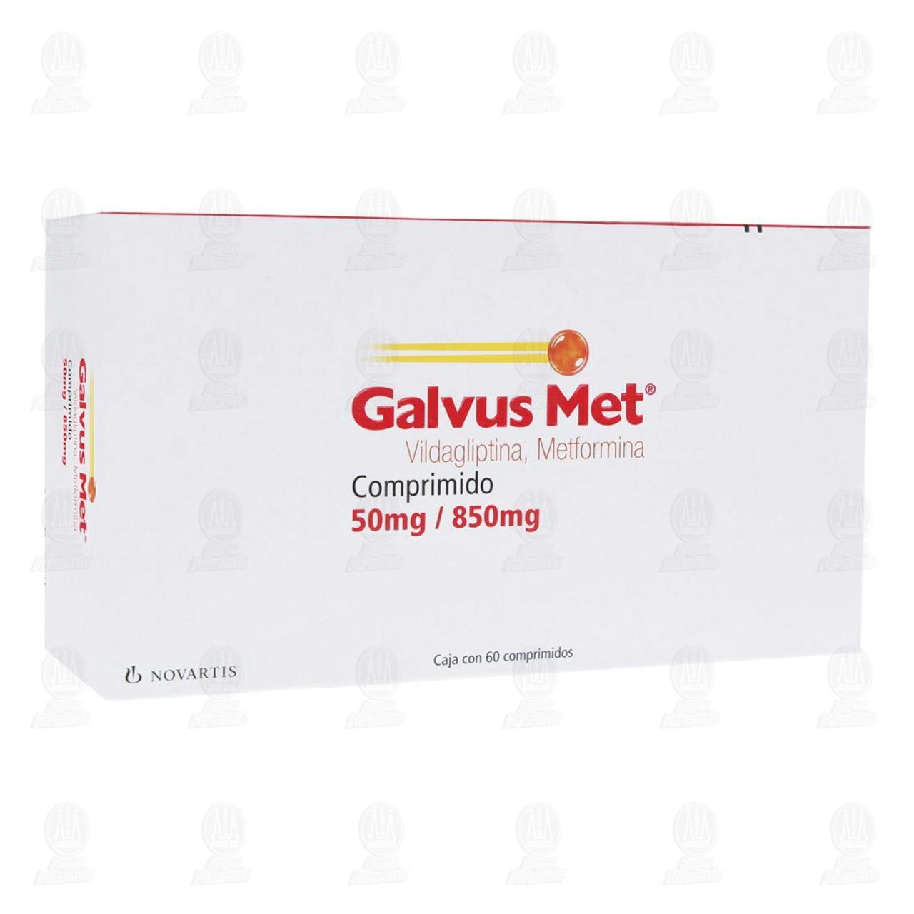 Comprar Galvus Met 50mg/850mg 60 Comprimidos en Farmacias Guadalajara
