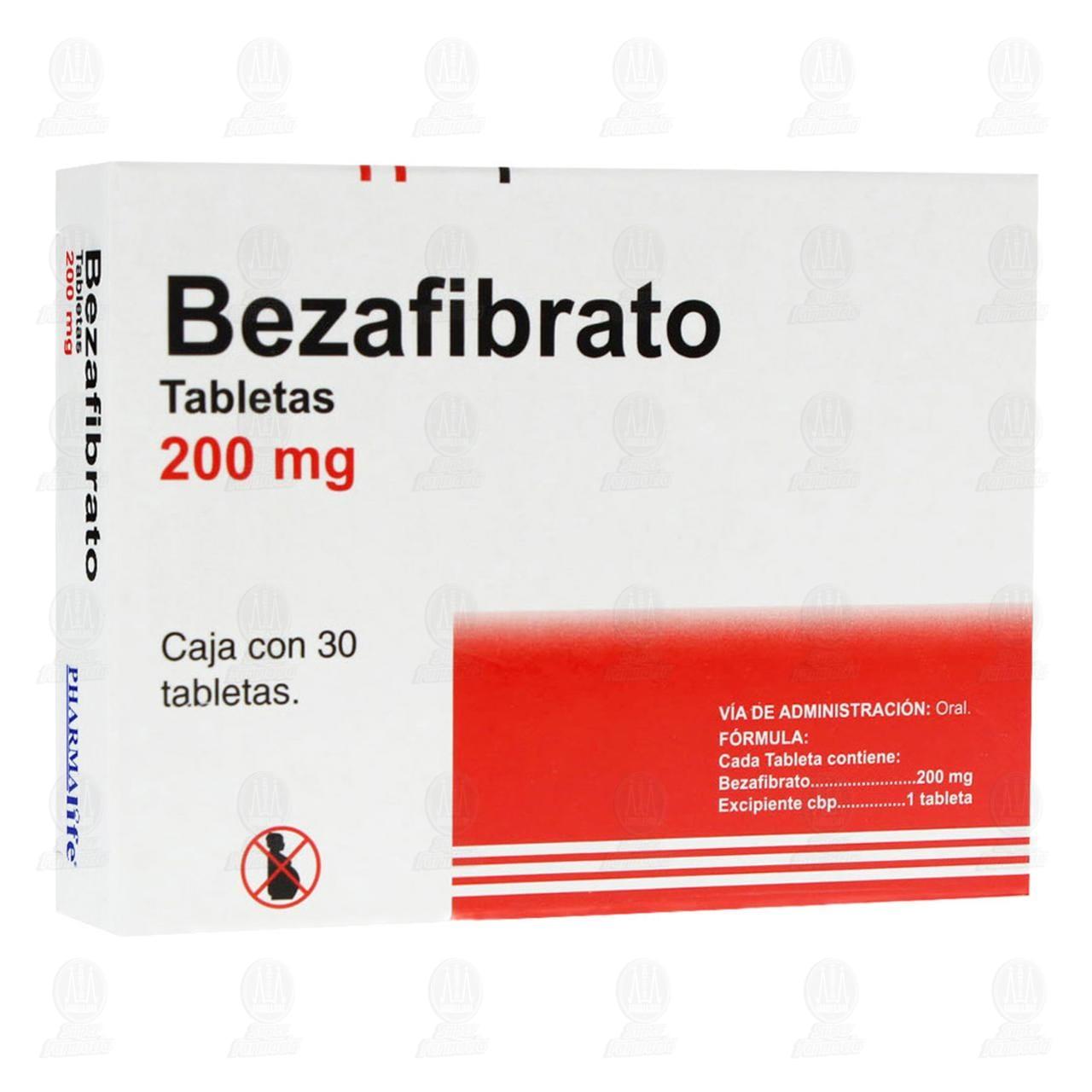 Comprar Bezafibrato 200mg 30 Tabletas Pharmalife en Farmacias Guadalajara