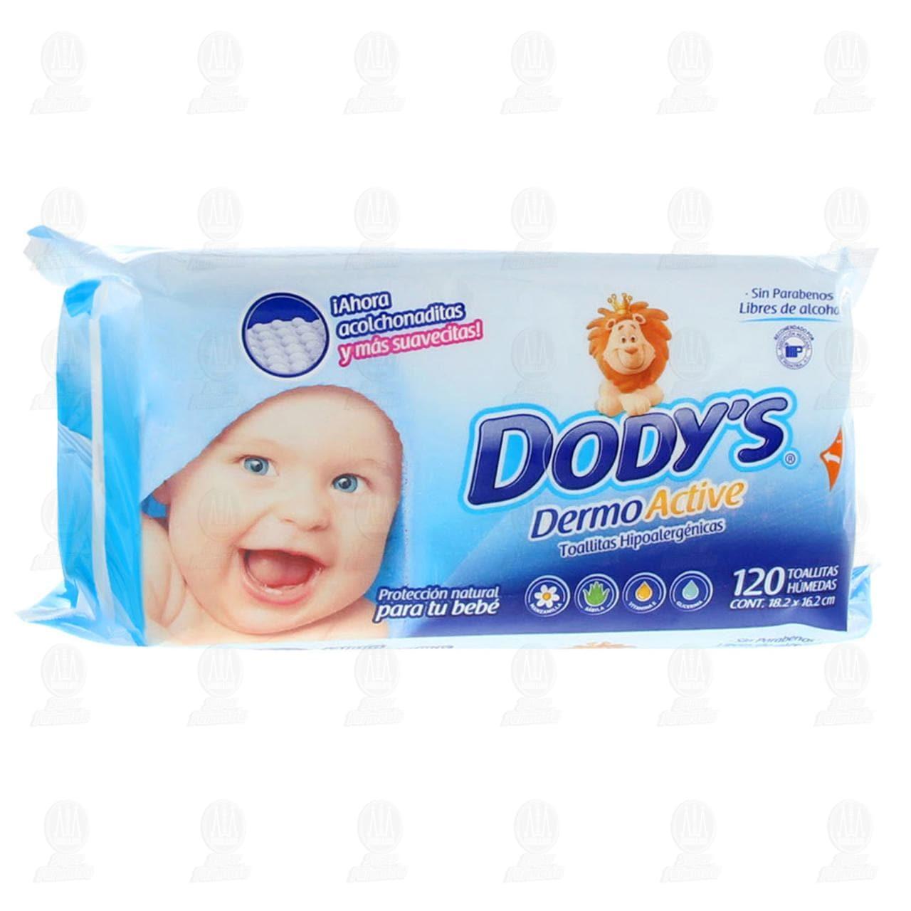 Toallitas para Bebé Dodys Dermo Active Hipoalergénicas, 120 pzas.